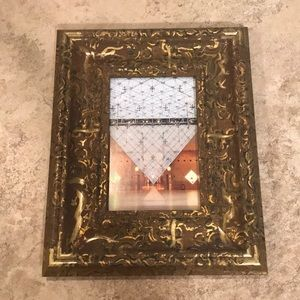 Hand painted Distressed Framed Louvre Picture